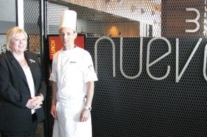 Hilton Melbourne South Wharf Lyn Blight and Head Chef Glen