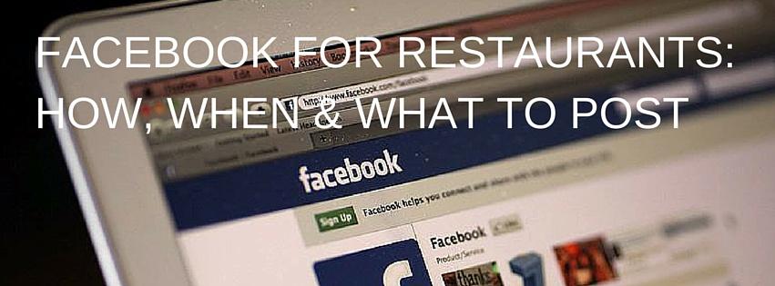 FACEBOOK FOR RESTAURANTS- 5 TIPS FOR