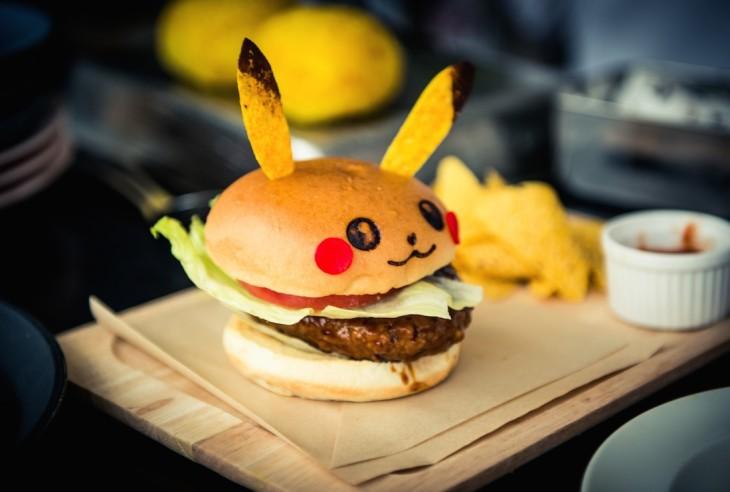 pokemon go pikachu burger