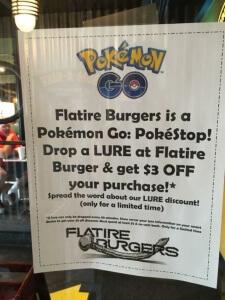 pokemon go promotion sign