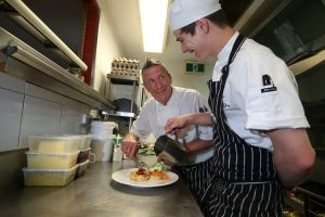 Flying Horse Bar Brewery Head Chef Peter Inverarity and Apprentice Cook Justin Carrol