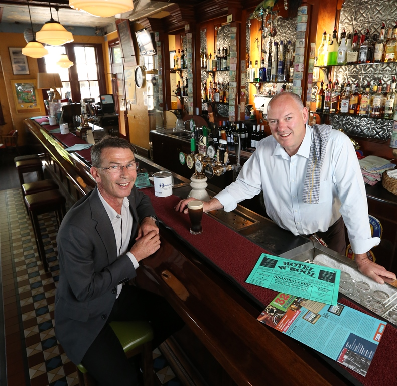 Hotel Warrnambool Owner Steven Phillpot and AVTES Director Chris Fitzgibbon