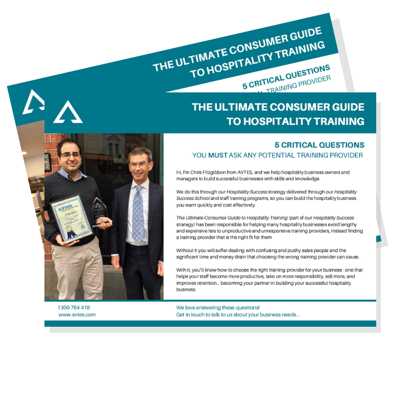 Consumer Guides: Hospitality Training Consumer Guide