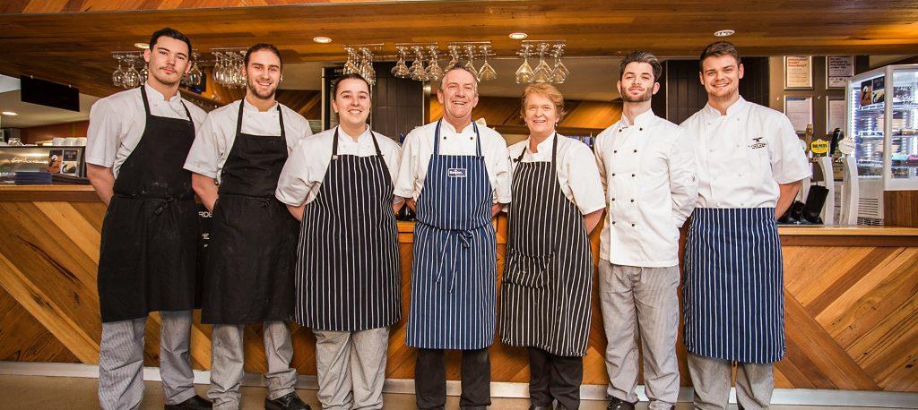 happy hospitality team